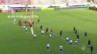 Beautiful cross-field kick try from Italy