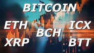 Обзор криптовалюты BITCOIN +  [ETH/ ICX/ BTT/ XRP/ BCH]/[19/05/2019]