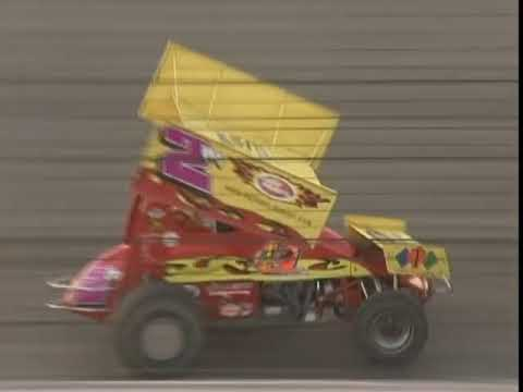 Weekly 410 and 360 racing. Davey Heskin wins the 410 main event while Matt Moro wins the 360 main. - dirt track racing video image