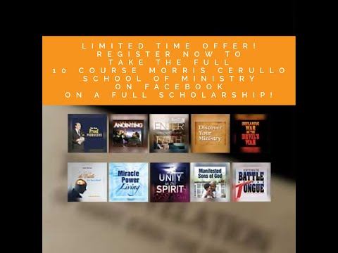 It's Not Too Late To Claim Your Full Scholarship To The Morris Cerullo You Tube School of Ministry!
