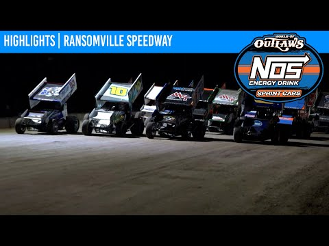 World of Outlaws NOS Energy Drink Sprint Cars Ransomville Speedway, July 30, 2021 | HIGHLIGHTS - dirt track racing video image