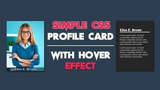 CSS Simple Profile Card With Hover Effect - CSS User Card Design