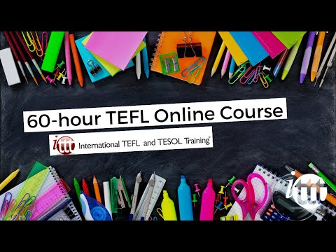 60-hour TEFL online course - 60-hour TESOL online course