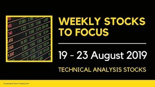 Stocks to Focus this Week: 19-August-2019 to 23-August-2019 |Technical Analysis| Weekly Outlook