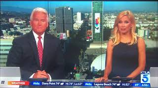 KTLA 5 News at 7pm Sunday breaking news open July 14, 2019 with commercials