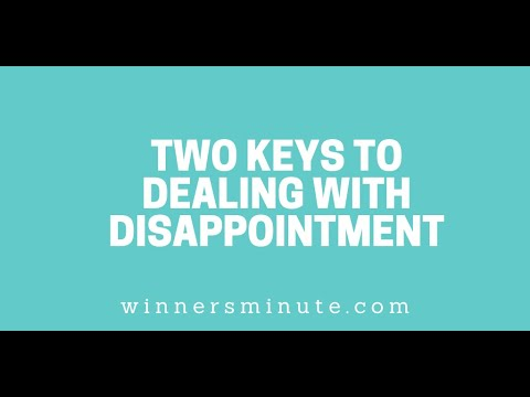 Two Keys to Dealing With Disappointment // The Winner's Minute With Mac Hammond