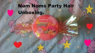 NUM NOMS Season 1 PARTY HAIR UNBOXING KIDS BEAUTY TOY