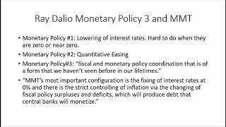 Ray Dalio's Monetary Policy #3 and Modern Monetary Theory  Wildride