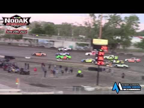 Nodak Speedway IMCA Stock Car A-Main (6/20/21) - dirt track racing video image