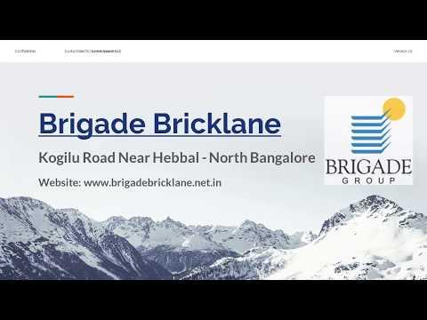 Brigade Bricklane Ready to Move Apartments in North Bangalore