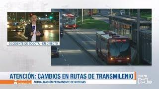 Vea los nuevos cambios en algunas rutas de Transmilenio