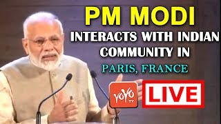 MODI LIVE | PM Modi interacts with Indian Community in Paris, France | YOYO TIMES |