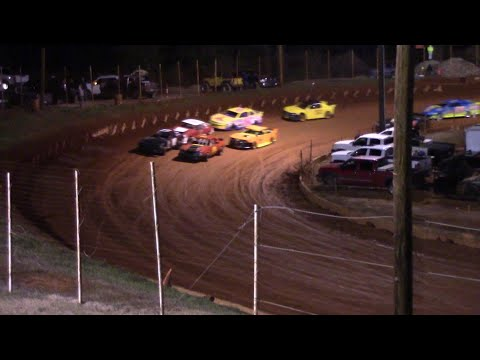Stock Four Cylinders B Class on a cold Saturday Night at the Winder Barrow Speedway - dirt track racing video image