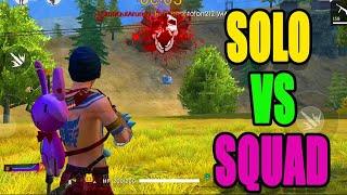 Solo vs squad Rank match || solo vs squad tips and tricks|| Run gaming