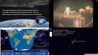 Sunrise Over The Pacific - International Space Station NASA Live View With Map - 044 - 2019-08-23