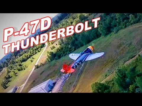 P-47D Thunderbolt Large Scale Gas RC Warbird Plane FPV Chase Footage & CRASH - TheRcSaylors - UCYWhRC3xtD_acDIZdr53huA