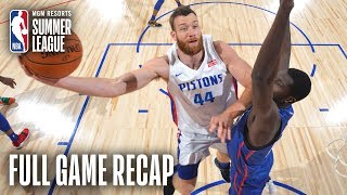76ERS vs PISTONS | Bruce Brown Notches Triple-Double In Big Win | MGM Resorts NBA Summer League