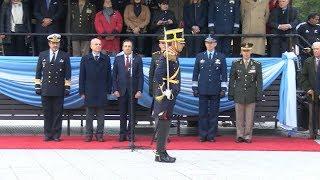 Acto central de las Fuerzas Armadas en homenaje al General San Martín