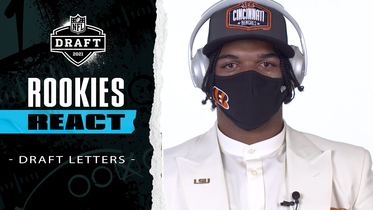NFL Rookies Get Emotional Reading Letters from Friends & Family After Being Drafted