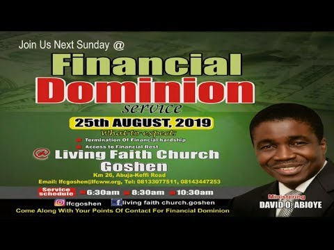 FINANCIAL DOMINION 2ND SERVICE AUGUST 25, 2019