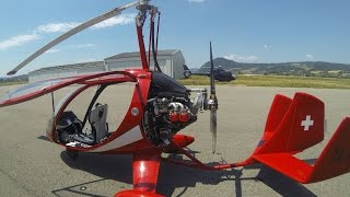 YouTube   Gyrocopter Girl Flying France To Spain Airfield 3600 Ft