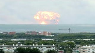 RAW Mushroom blast Weapons Depot Siberia Russia days after multiple massive explosions August 2019