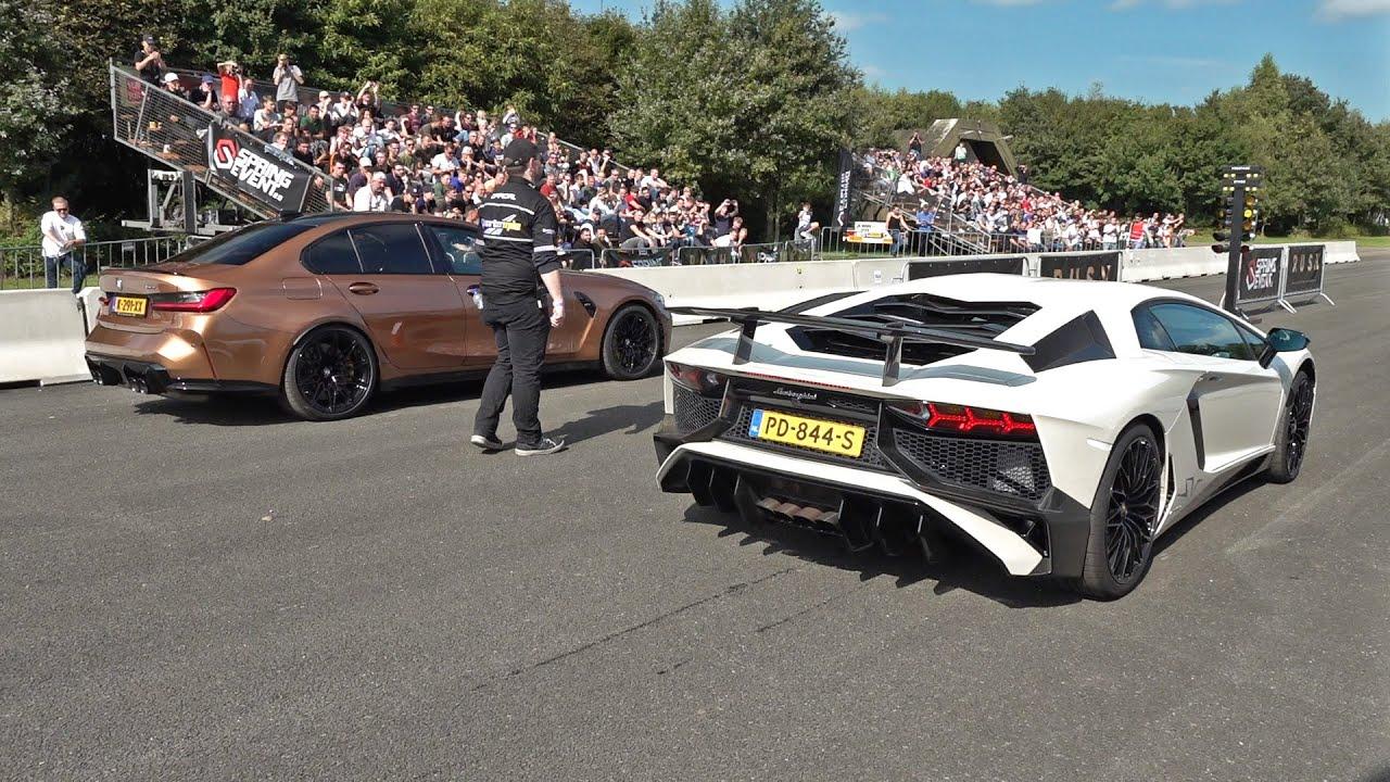 Lamborghini Aventador LP750-4 SV vs BMW M3 G80