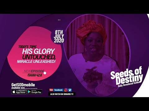 Dr Becky Paul-Enenche - SEEDS OF DESTINY - WEDNESDAY JULY 8, 2020