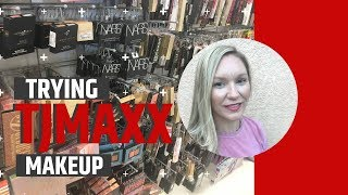 Trying TJMAXX Makeup for the First Time | CANDACE SKAGGS