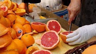 불티나게 팔리는 자몽쥬스 / orange, grapefruit juice, fruit ade / korean street food