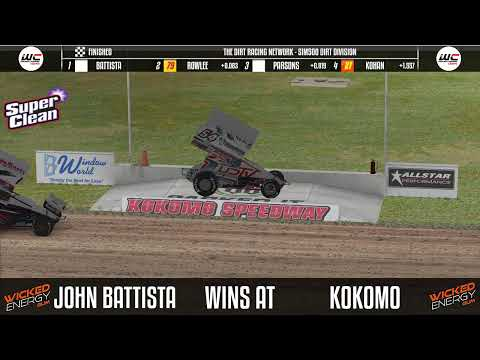 Sim500 Dirt Division 360 Sprint Cars @ Kokomo - dirt track racing video image