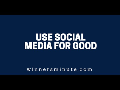 Use Social Media for Good  The Winner's Minute With Mac Hammond