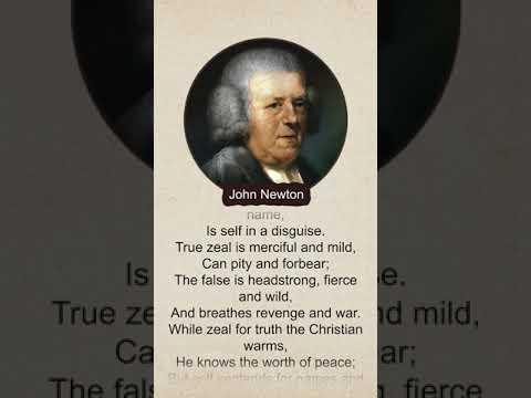 True and False Zeal - Poem by John Newton #Shorts