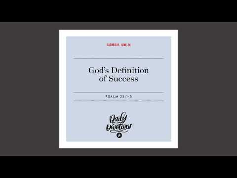 Gods Definition of Success - Daily Devotional