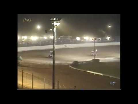 Full race from the SOD sprints at Hartford Speedway Park in MI August 4, 2000. Ohio's Aaron Call holds off Craig Keel for the feature win. - dirt track racing video image