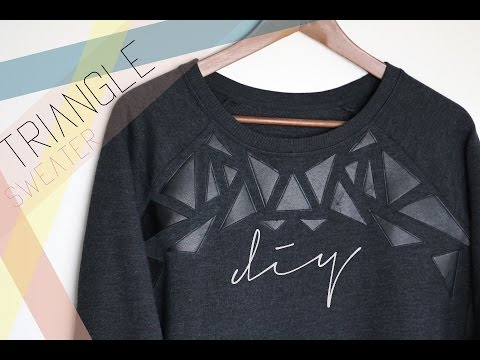 DIY Triangle Sweater - UCmtGXzd__lf94o_XqlF3eqQ