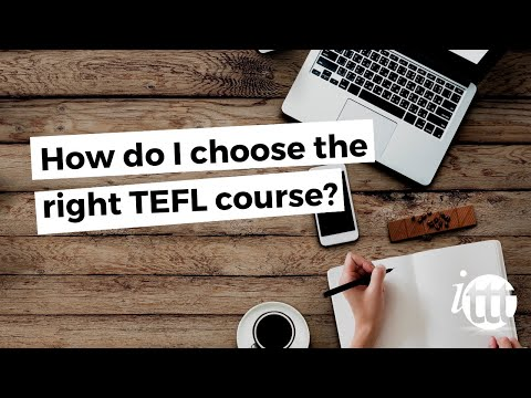 video on how to choose a TEFL course