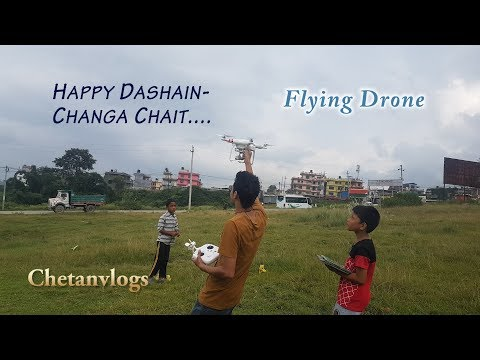 HAPPY DASHAIN|| Changa Chait Flying Drone around|| - UCKX9yjdcL8YKlav9Er9dXcw