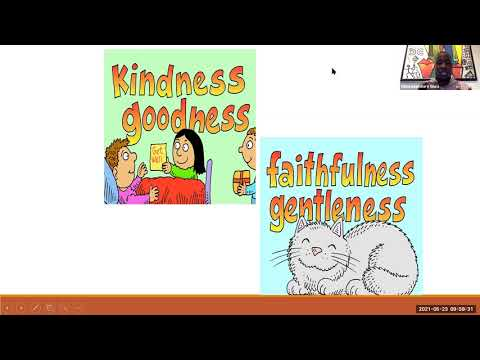 What does the BIBLE say about FRUIT OF THE SPIRIT? - Pre-teens Sunday Service - 23rd, May 2021