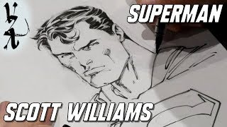 Scott Williams inking Superman