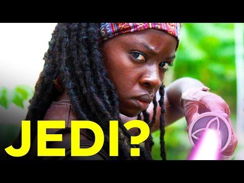 Jedi Michonne Killing Zombies with a Lightsaber (Star Wars / Walking Dead Mash Up) - UCKy1dAqELo0zrOtPkf0eTMw
