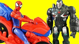 Spider-man Far From Home Power Cycle ! War Machine Marvel Endgame Battle Thanos Brothers