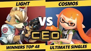 CEO 2019 SSBU - Rogue | Light (Fox) Vs. PG | Cosmos (Inkling) Smash Ultimate Tournament W Top 48