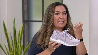Ryka Mesh Lace-Up Walking Sneakers -Rhythma on QVC