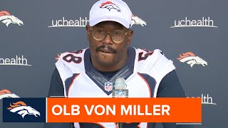 Von Miller on second joint practice: 'I feel like we did better than yesterday'