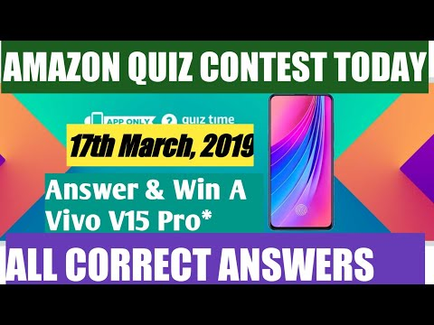 Amazon Quiz Time Daily – Today's Answer of Amazon Quiz To Win A Vivo V15 Pro