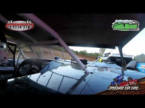 #5* John Briggs - Cash Money Late Model - 10-3-2020 Springfield Raceway - In Car Camera - dirt track racing video image
