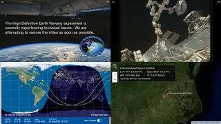 North American Coastlines - International Space Station NASA Live View With Map - 036 - 2019-08-20