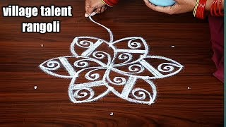 #SIMPLE DAILY MUGGULU WITH 5DOTS | BEGINNERS KOLAMS | 5DOTS MADE EASY TO DRAW FOR EVERYONE