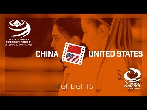 HIGHLIGHTS: China v United States - round robin - LGT World Women's Curling Championship 2019